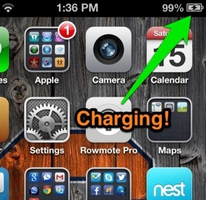iPhone charging from dynamo