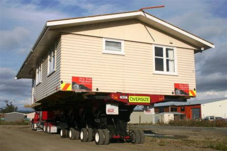 house on a truck