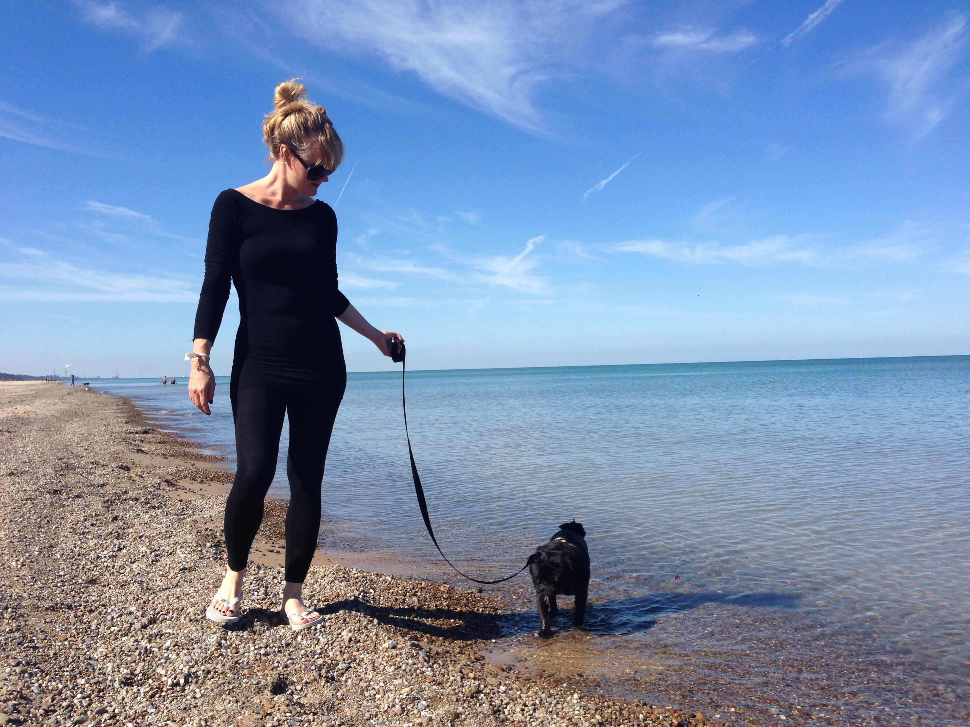 Kimberly and Louis on Lake Michigan
